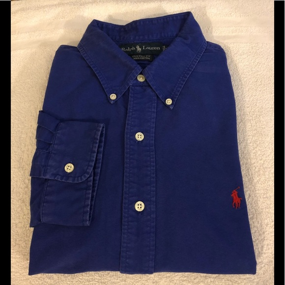 f2d5cc39b2b03 Polo Ralph Lauren Royal Blue Custom Fit Shirt XXL.  M 5b54f17dd8a2c7c7748b6e36